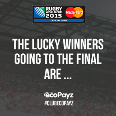 Final winners announced for our Rugby World Cup 2015: Road To The Final promotion!